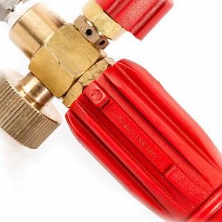 Adam's Red Foam Cannon